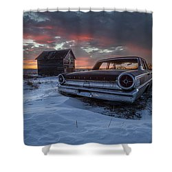 Shower Curtain featuring the photograph Frozen Galaxie 500  by Aaron J Groen