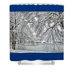 Frozen Lake In Kansas City Shower Curtain