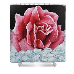 Frozen Rose Shower Curtain