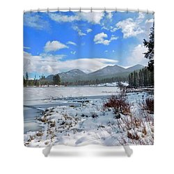 Shower Curtain featuring the photograph Frozen Water by Dan Miller