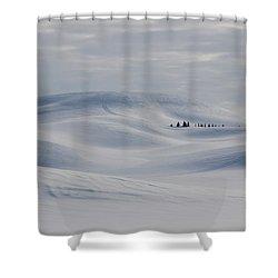 Frozen Winter Hills Shower Curtain