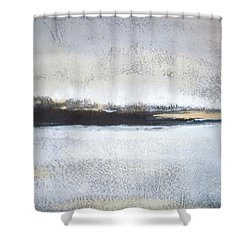 Frozen Winter Lake Shower Curtain