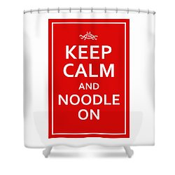 Fsm - Keep Calm And Noodle On Shower Curtain
