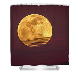 Full Moon Above Clouds Shower Curtain