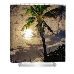 Full Moon Palm Shower Curtain