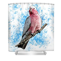 G Is For Galah Shower Curtain