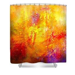 Galaxy Afire Shower Curtain