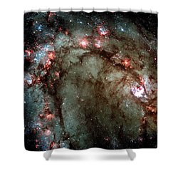 Shower Curtain featuring the photograph Galaxy M83 Star Birth Outer Space Image by Bill Swartwout Fine Art Photography