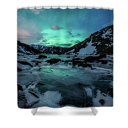 Gale-force Aurora V Shower Curtain