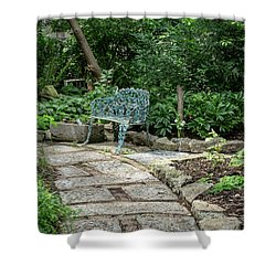 Shower Curtain featuring the photograph Garden Bench by Dale Kincaid