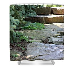 Garden Landscape - Stone Stairs Shower Curtain