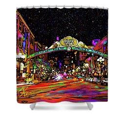Gaslamp, San Diego Shower Curtain