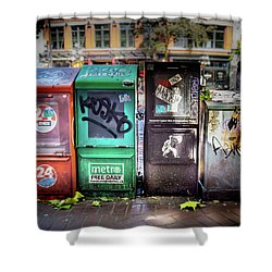 Gastown Street Newsstand Shower Curtain