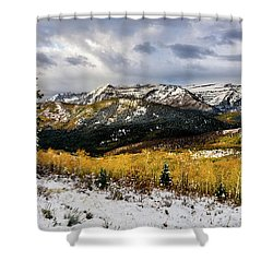 Shower Curtain featuring the photograph Gathering Storm by TL Mair