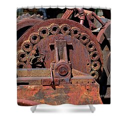 Gears/gears And Rust Shower Curtain