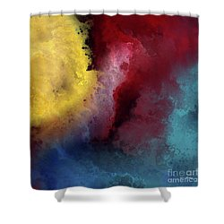 Shower Curtain featuring the painting Genesis 1 3. Let There Be Light by Mark Lawrence