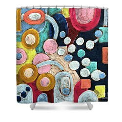 Geometric Abstract 3 Shower Curtain