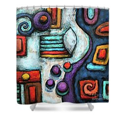 Geometric Abstract 5 Shower Curtain
