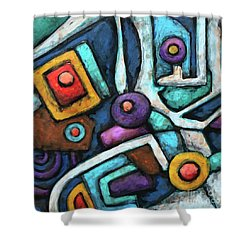 Geometric Abstract 6 Shower Curtain