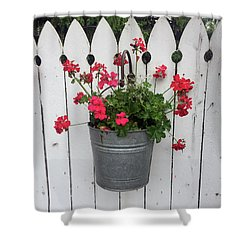 Geranium Gate Shower Curtain