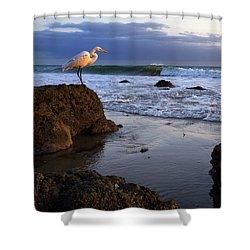 Giant Egret Shower Curtain