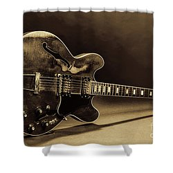 Gibson Guitar Images On Stage 1744.015 Shower Curtain