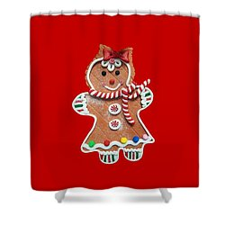 Shower Curtain featuring the photograph Gingerbread Cookie Girl by Rachel Hannah