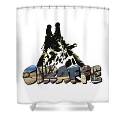 Giraffe Big Letter Shower Curtain