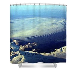 Glacier Pushes Out Shower Curtain