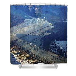 Glaciers Converge Shower Curtain
