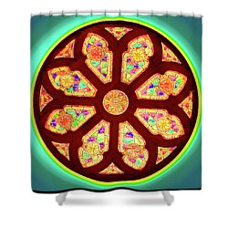 Glowing Rosette Shower Curtain