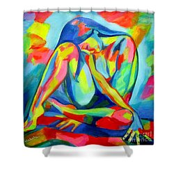 Glowing Solitude Shower Curtain