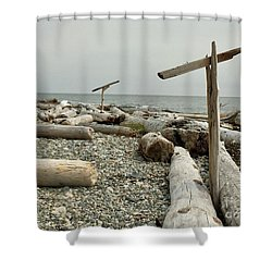 Go North Young Man Shower Curtain