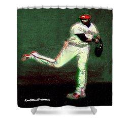 Go Yelich Baseball Art 1 Shower Curtain