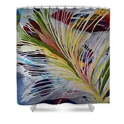 God Gives Us Roots And Wings Shower Curtain