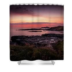 Godrevy Sunset - Cornwall Shower Curtain