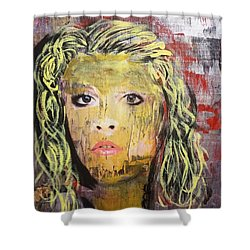 Gold Dust Woman Shower Curtain