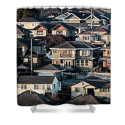 Golde Hour At Home Shower Curtain
