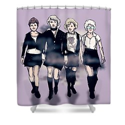 Golden Craft Girls Shower Curtain