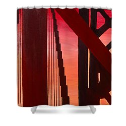 Golden Gate Art Deco Masterpiece Shower Curtain