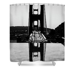 Golden Gate Reflection Shower Curtain