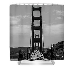 Shower Curtain featuring the photograph Golden Gate by Stuart Manning