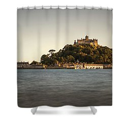 Golden Hour At St Michael's Mount Shower Curtain