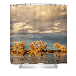 Golden Hour In The Refuge Shower Curtain