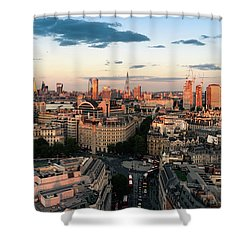 Shower Curtain featuring the photograph Golden Hour London by Stewart Marsden