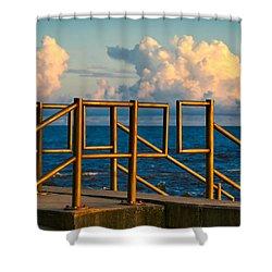 Golden Railings Shower Curtain