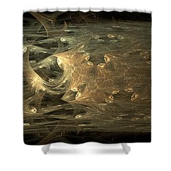 Golden Soul - Modern Abstract Art Shower Curtain