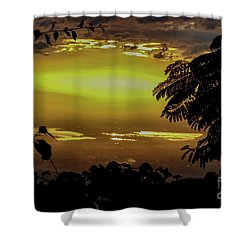 Golden Sunset On Strawberry Hill Shower Curtain