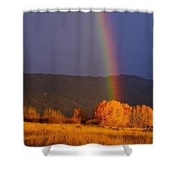 Golden Tree Rainbow Shower Curtain