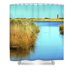 Shower Curtain featuring the photograph Gordon's Pond State Park Panorama by Bill Swartwout Fine Art Photography